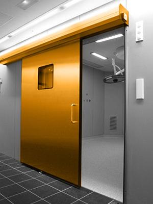 Instalación de puertas herméticas automáticas
