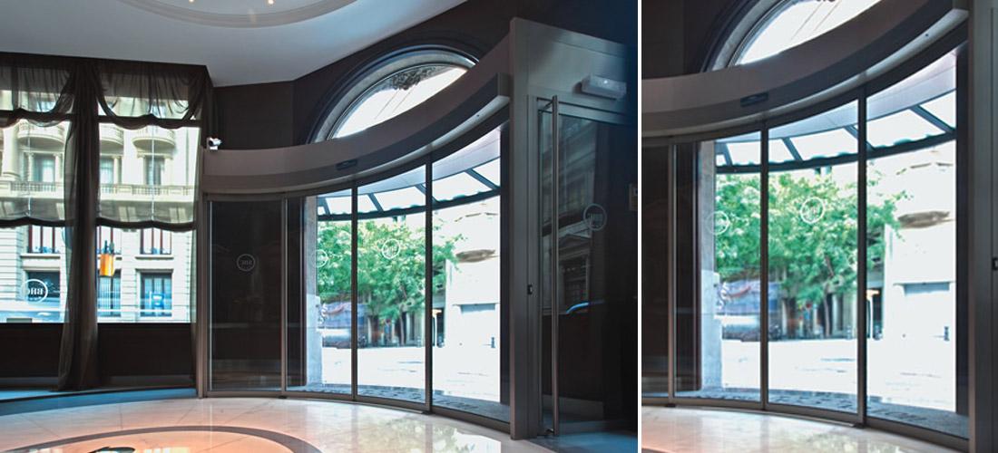 Puertas curvas y circulares elegantes y funcionales