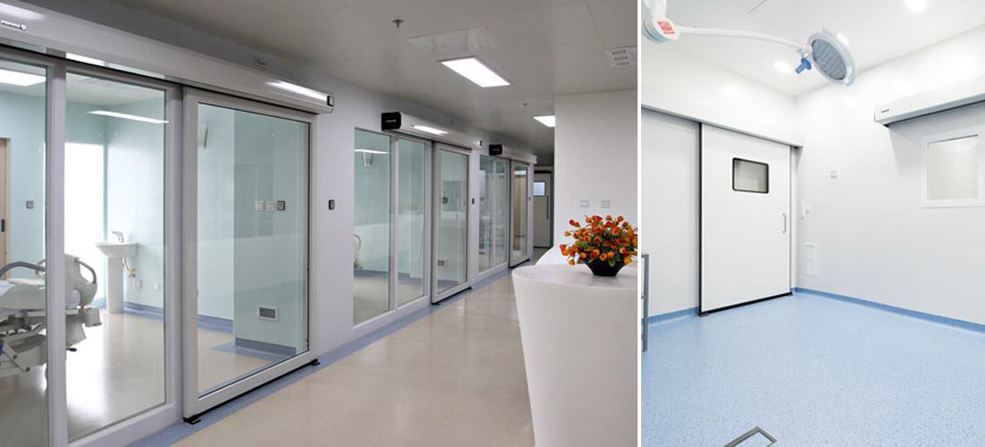 Puertas herméticas para hospitales y laboratorios