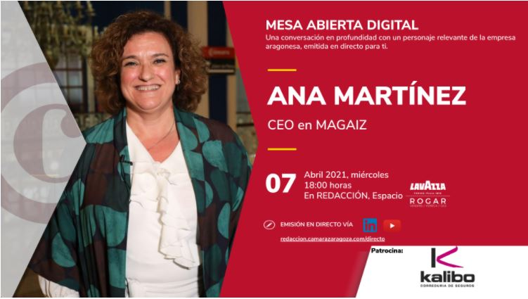 Ana Martinez en la Cámara de Comercio, Industria y Servicios de Zaragoza.